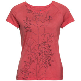 Odlo BL Concord SS Top Crew Neck Women chrysanthemum-flower leaf print SS19